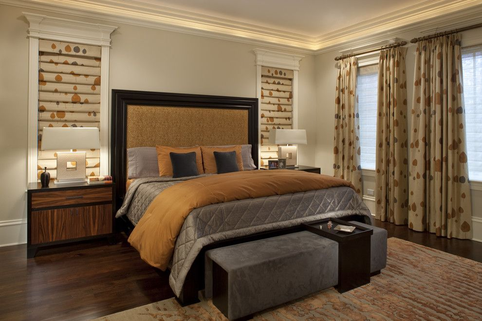 Chicago Points of Interest for a Contemporary Bedroom with a Upholstered Headboard and Kenmore Master Bedroom a by Michael Abrams Limited