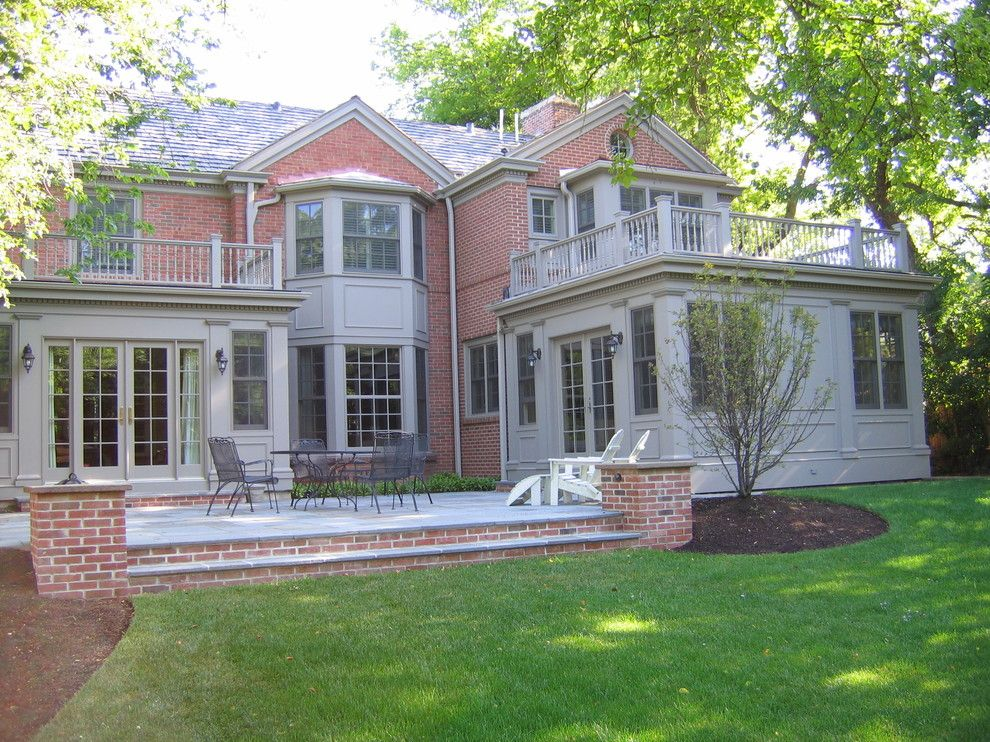 Chicago Points of Interest for a Traditional Exterior with a Patio Furniture and Glencoe Private Residence 2 by Cook Architectural Design Studio