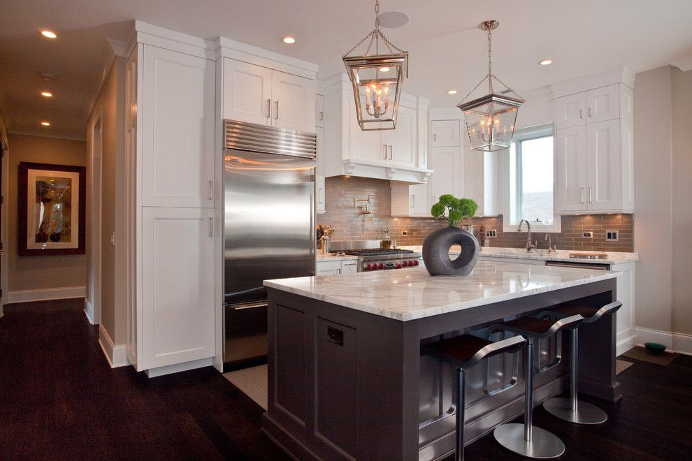 Chicago Points of Interest for a Traditional Kitchen with a Open Kitchen and Aldine Avenue by Michael Abrams Limited