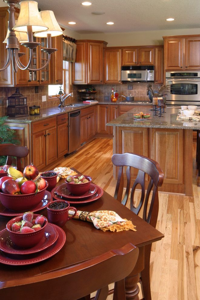 Chiver for a Contemporary Kitchen with a Medium Wood Cabinets and Cabinet Color Shift by N Hance