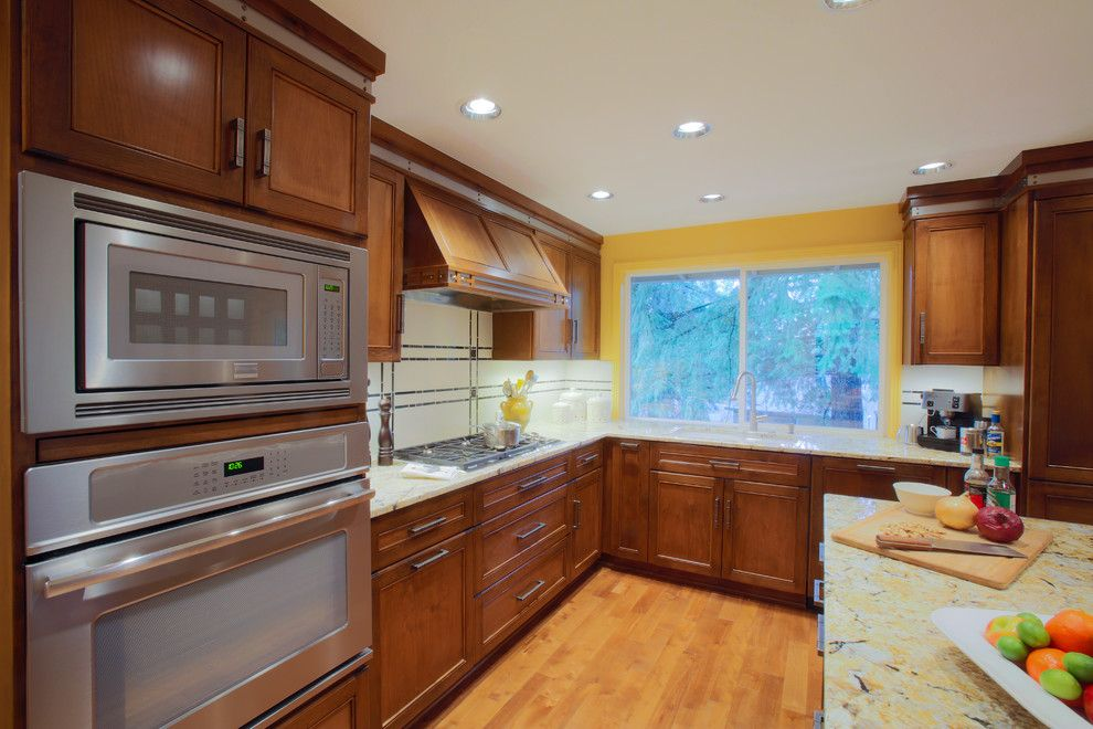 Chown Hardware for a Traditional Kitchen with a Custom Hood and Kitchen Remodel by Deb Seeley Designs Llc