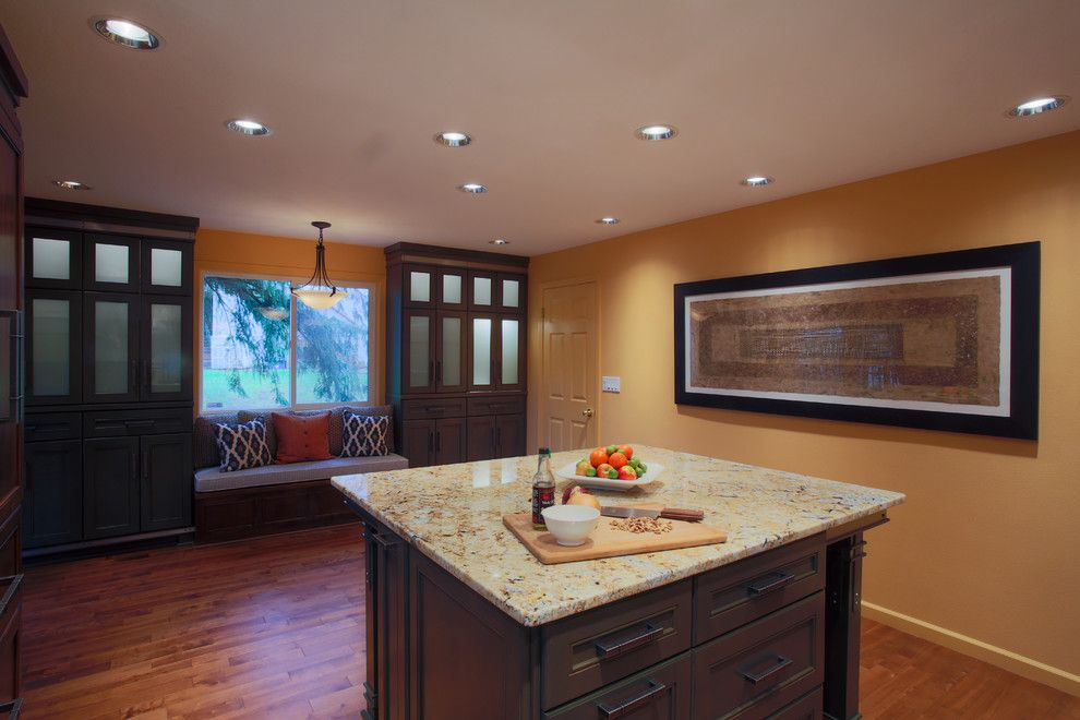 Chown Hardware for a Traditional Kitchen with a Custom Island Legs and Kitchen Remodel by Deb Seeley Designs Llc