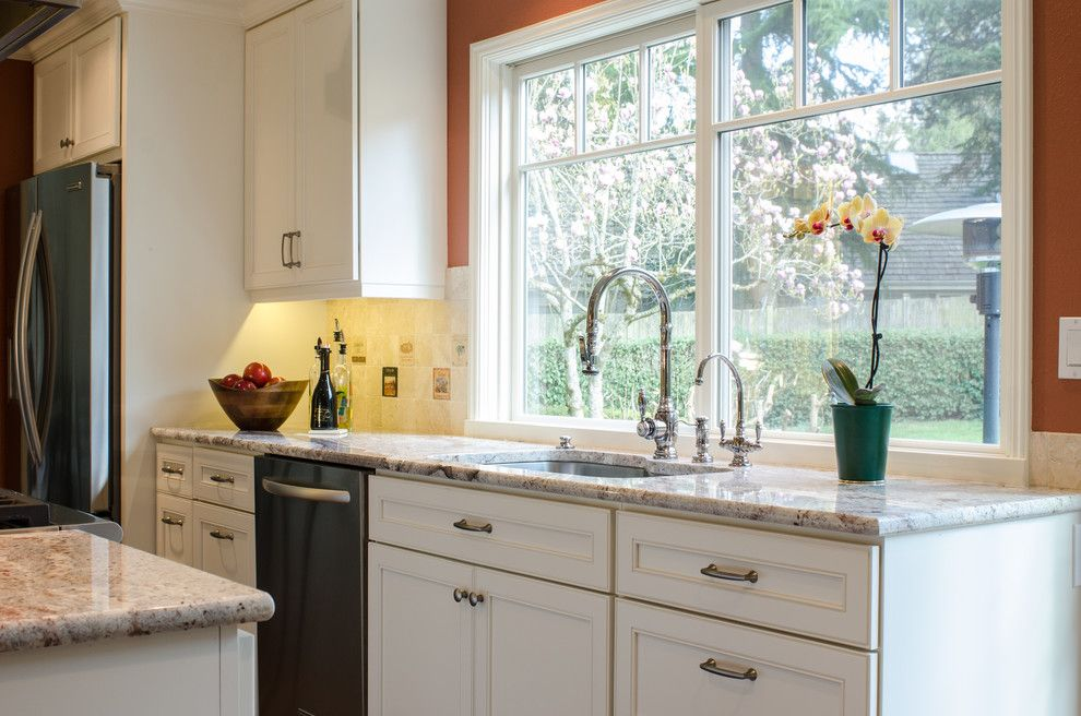 Chown Hardware for a Traditional Kitchen with a Door Pulls and Knobs by Chown Hardware M956 Ap and M911 Ap and Mercer Island Kitchen by Potter Construction Inc