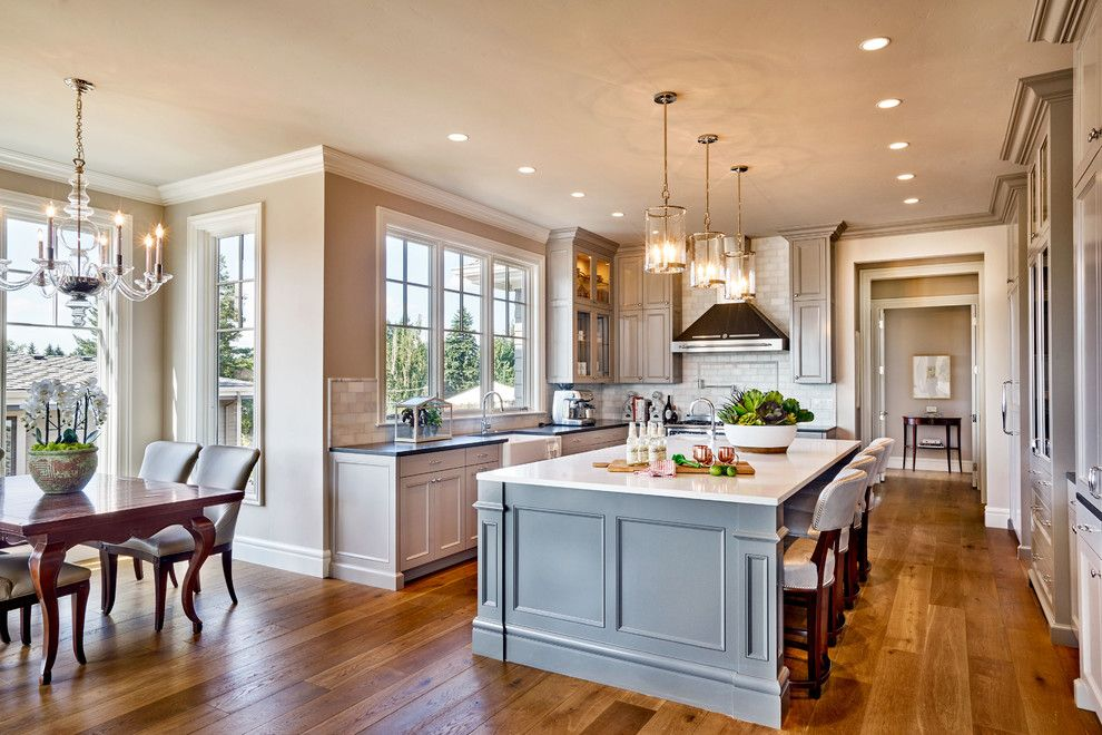 Chown Hardware for a Traditional Kitchen with a Style Decor and the Adeline by Garrison Hullinger Interior Design Inc.