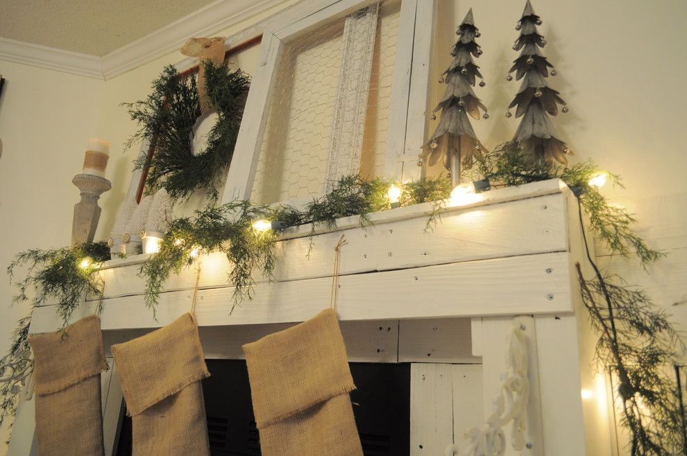 Christmas Pictures Ideas for a Eclectic Dining Room with a Frames and Mantel Ideas by Buckets of Burlap