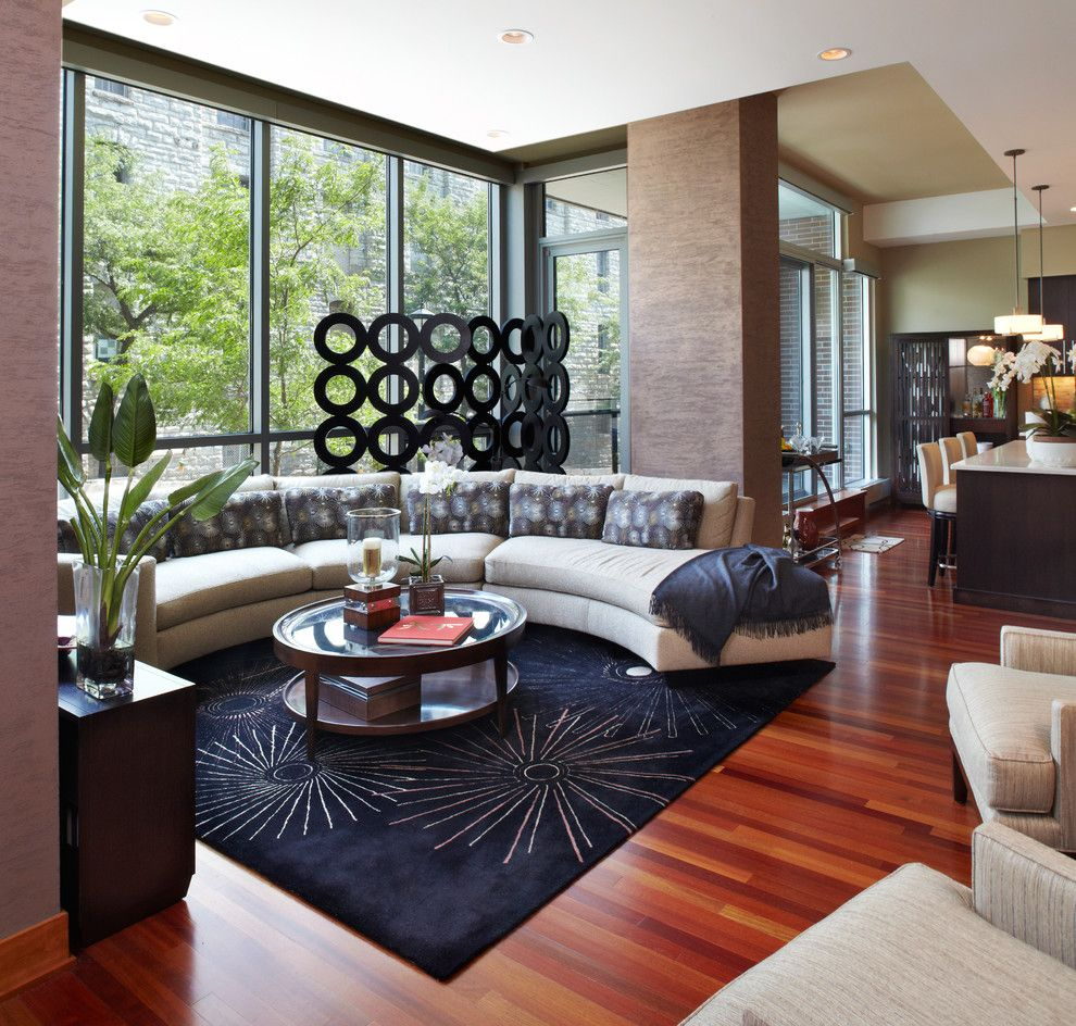 Circlepix for a Contemporary Living Room with a Recessed Lighting and Living Room by Gabberts Design Studio
