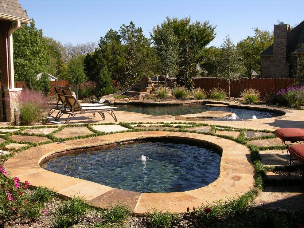 Claffey Pools for a Rustic Pool with a Hot Tub and World's Greatest Pools 2013 Summer Entries by Pebble Tec Superior Quality Pool Finishes