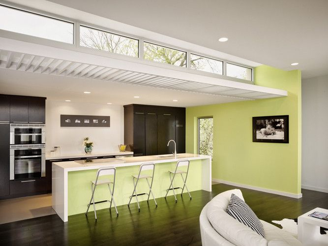 Clerestory Windows for a Modern Kitchen with a Modern and Modern Kitchen by Alterstudio.net