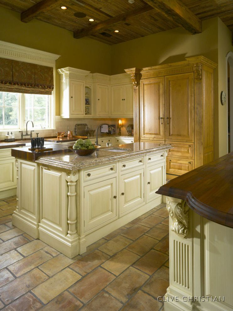 Clive Christian Kitchen for a Traditional Kitchen with a Traditional and Clive Christian Kitchen in Antique French Oak & Cream by Hungeling Design, Llc