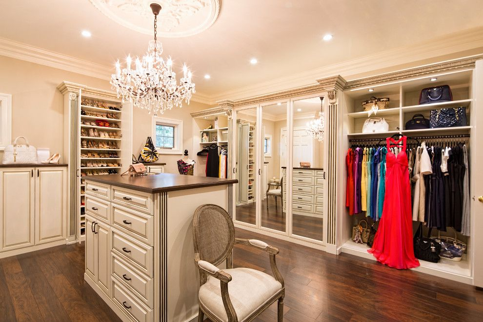 Closet Rod Height For A Traditional Closet With A Closet Chandelier And  Walk In Closet Organizers