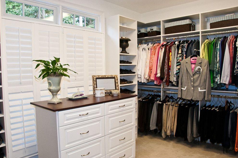 Closet Rod Height for a Traditional Closet with a Custom Closets and Custom Closets by Louisiana Custom Closets