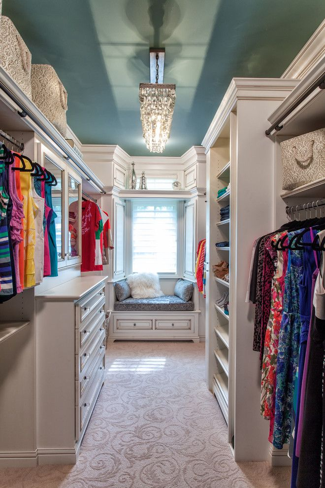 Closet Rod Height for a Traditional Closet with a Dream Closet and French Country European Style Home by M.j. Whelan Construction