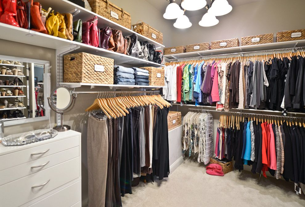 Closet Rod Height For A Traditional Closet With A Hangers And Walk In Closet  Organization | Organized Living FreedomRail By Organized Living