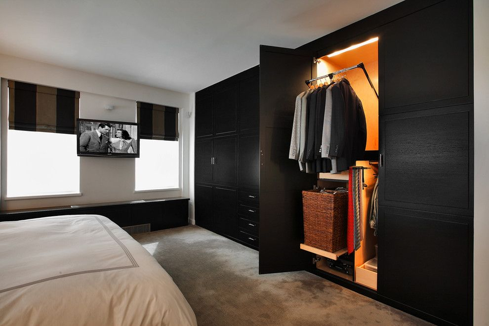 Closet Rod Height for a Transitional Bedroom with a Minimal and Kitchen Designs by Ken Kelly Bedroom 11 by Kitchen Designs by Ken Kelly, Inc. (Ckd, Cbd, Cr)