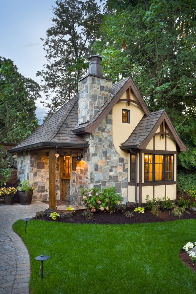 Cob House Plans for a Traditional Exterior with a Wood Beam and the Rivendell Manor by Alan Mascord Design Associates Inc
