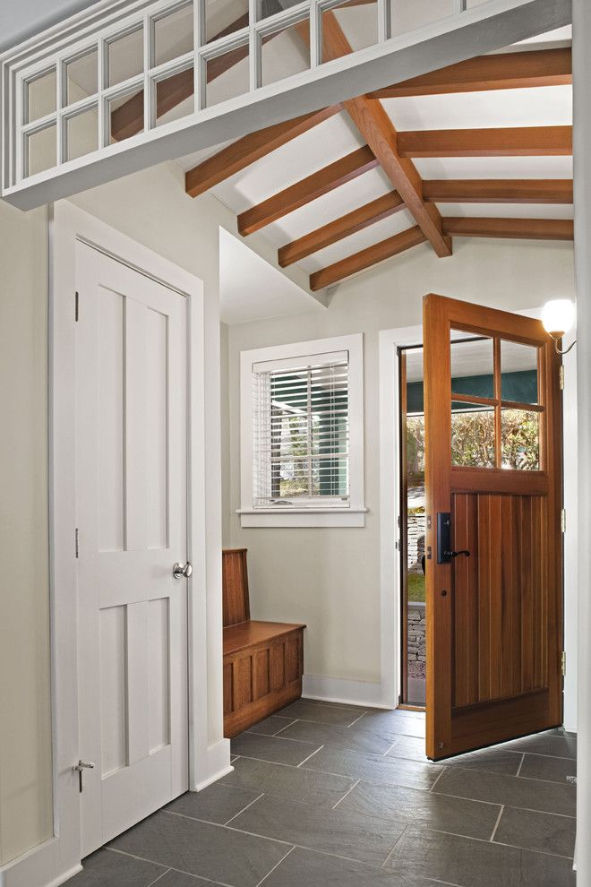 Codel Doors for a Rustic Entry with a Sustainability and Interior and Exterior Views by Tate + Burns Architects Llc