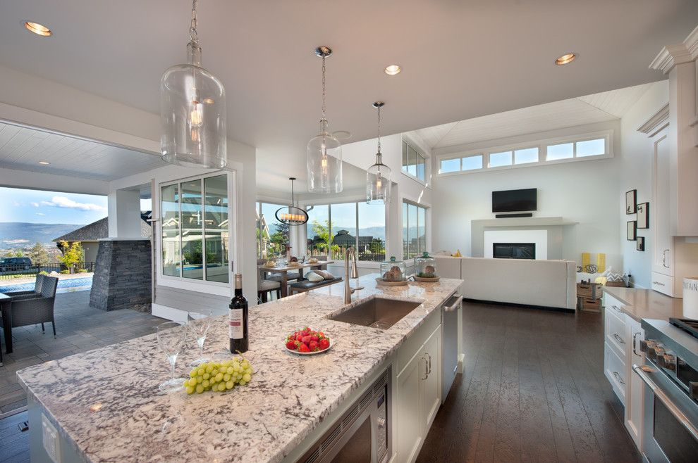 Coldspring Granite for a Contemporary Kitchen with a Kitchen Island and Skylands Show Home by Sticks and Stones Design Group Inc.