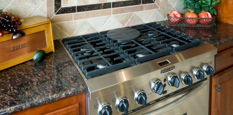 Coldspring Granite for a  Kitchen with a Brown Granite and Tile & Stone by Coldspring