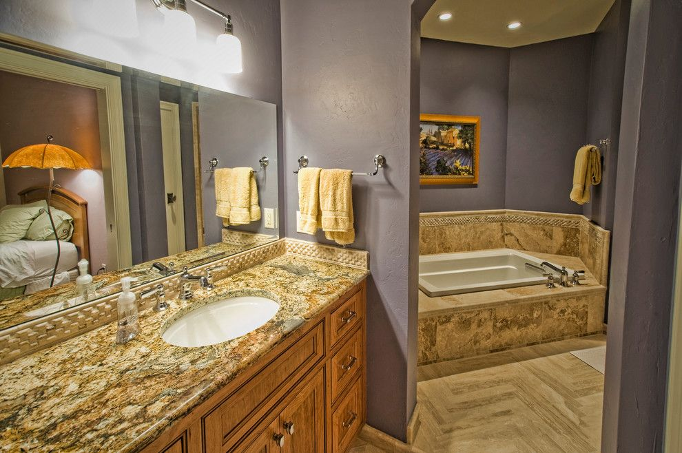 Coldspring Granite for a Traditional Bathroom with a Custom Lighting and Coldspring by Ascent Custom Homes