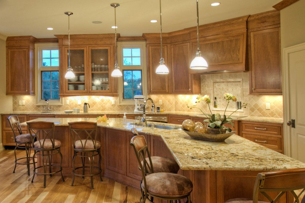 Coldspring Granite for a Traditional Kitchen with a Bar Stools and Coldspring by Ascent Custom Homes