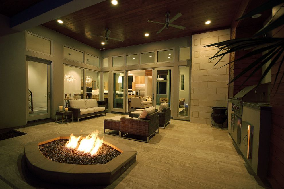 Coleman Furniture Reviews for a Contemporary Patio with a Green Building and Bowman Residence Outdoor Living by Cornerstone Architects