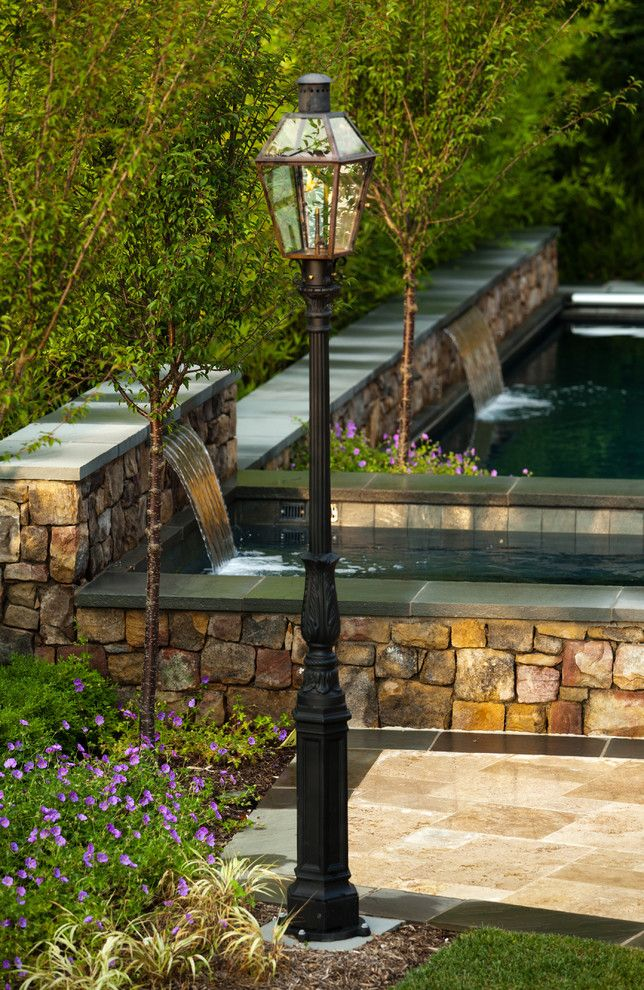 Colley Pools for a Contemporary Exterior with a Swimming Pool and Bevolo Gas and Electric Lights by Bevolo Gas and Electric Lights