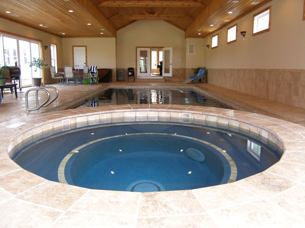 Colley Pools for a Craftsman Pool with a in Floor Cleaning Systems and Indoor Swimming Pools by Colley's Pools & Spas