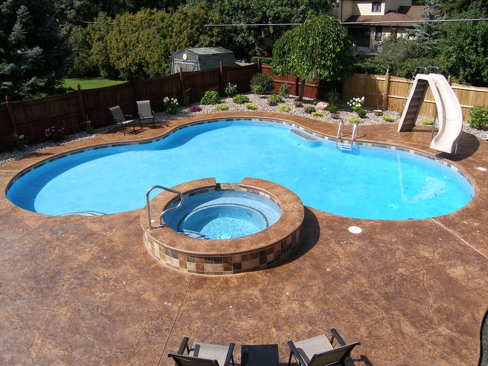 Colley Pools for a  Pool with a Gunite Freeform Oasis Swimming Pools and Gunite Pools by Colley's Pools & Spas