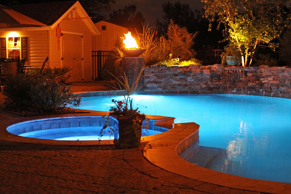 Colley Pools for a  Pool with a Gunite Freeform Swimming Pool and Gunite Pools by Colley's Pools & Spas