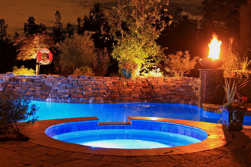 Colley Pools for a  Pool with a in Floor Cleaning System and Gunite Pools by Colley's Pools & Spas