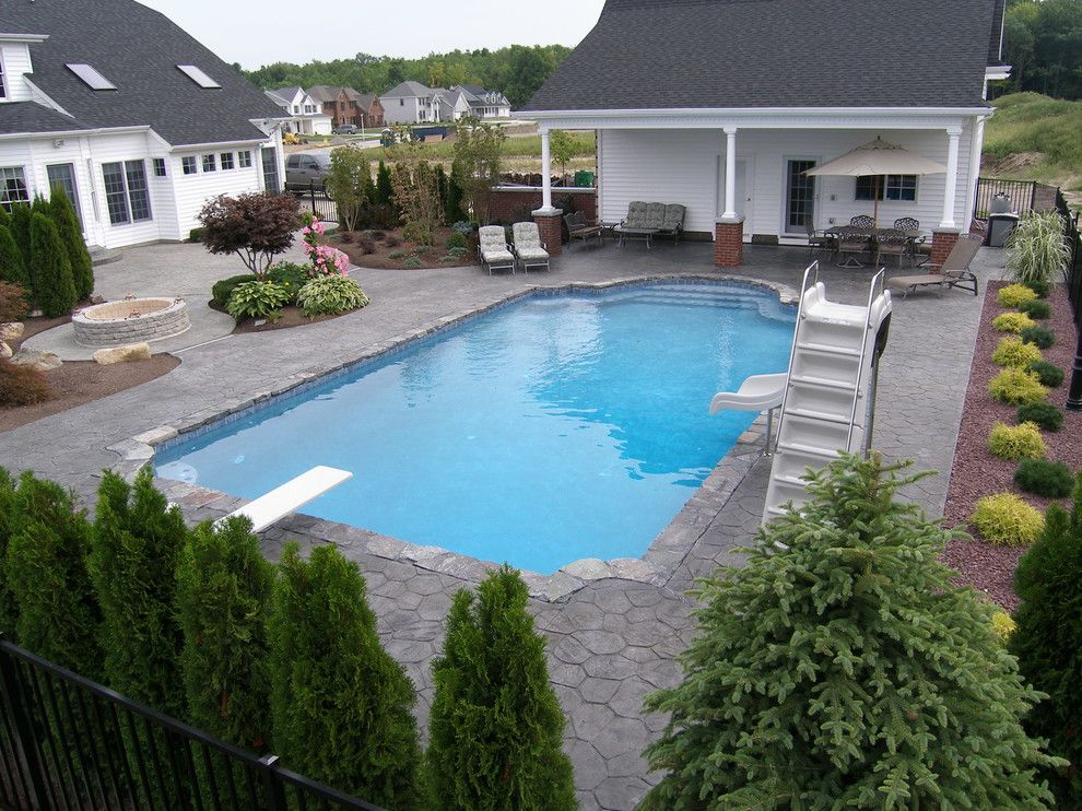 Colley Pools for a  Pool with a Pool House and Gunite Pools by Colley's Pools & Spas