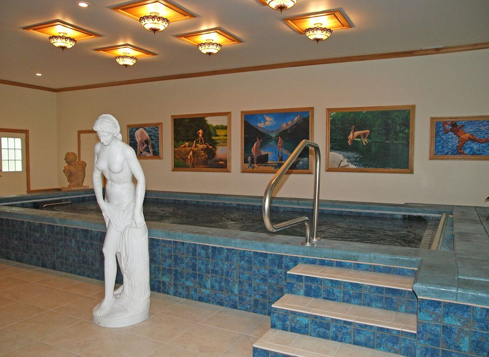 Colley Pools for a  Pool with a Raised Tile Pool and Indoor Swimming Pools by Colley's Pools & Spas