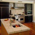Colonial Cream Granite for a Contemporary Kitchen with a Shaker Cabinets and Honua by Archipelago Hawaii Luxury Home Designs