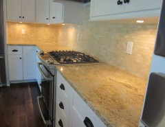 Colonial Cream Granite for a Traditional Kitchen with a Granite Granite Countertops and Building Concepts by Paramount Granite Company