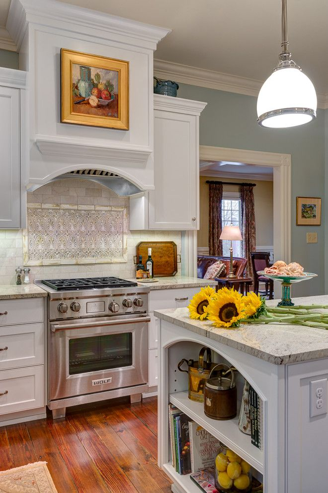 Colonial Cream Granite for a Traditional Kitchen with a Updated Traditional and Modern Twist on a Traditional Home by Dianne Davant and Associates