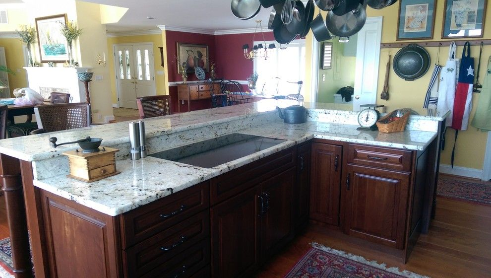 Colonial Gold Granite for a Mediterranean Spaces with a Colonial Gold Granite and Colonial Gold Granite Project by Granite Works Countertops