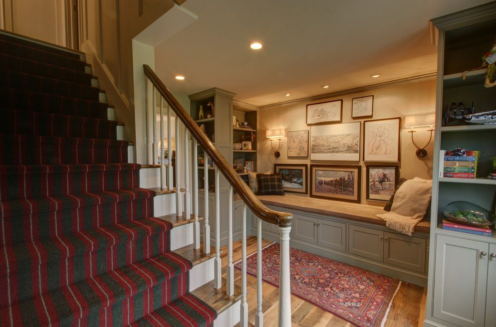 Columbus Worthington Air for a Traditional Entry with a Runner and Living Room Transformation: Into a Master Suite by Rta Studio Residential Architects