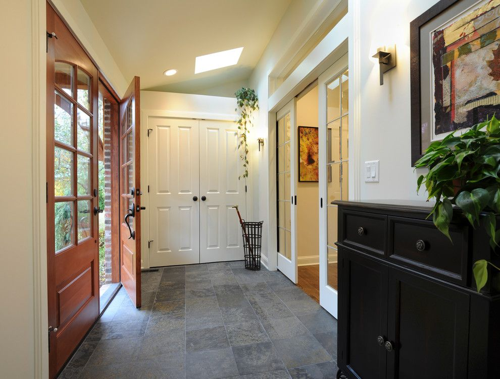 Columbus Worthington Air for a Traditional Entry with a Umbrella Stand and No Shoes to Trip Over in This Entry by Renovations Unlimited