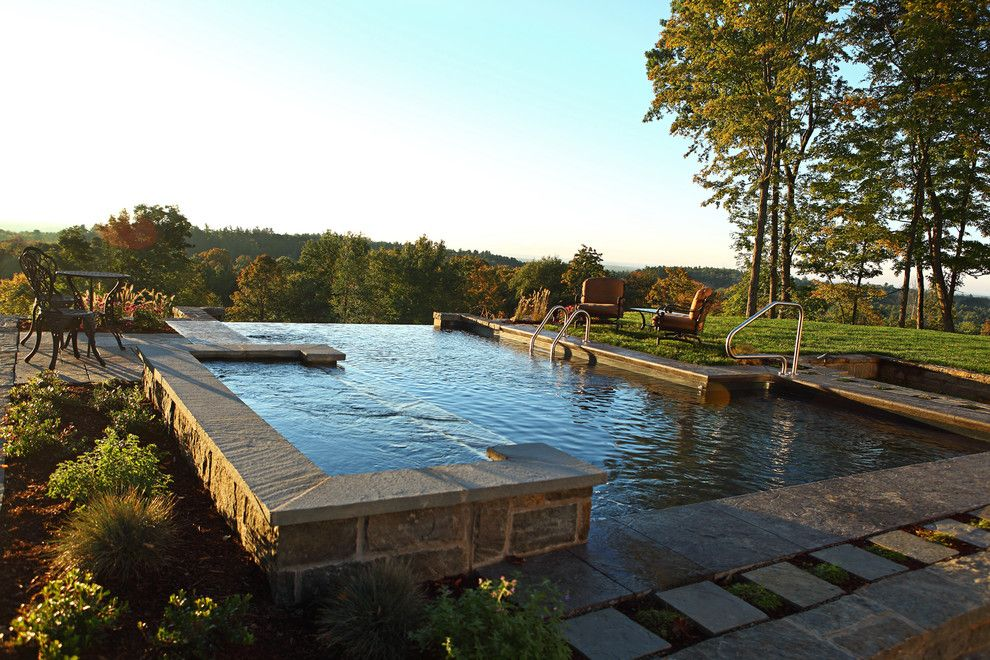 Concord Pools for a Contemporary Pool with a Negative Edge Pools and Vinyl Lined Negative Edge by Concord Pools & Spas