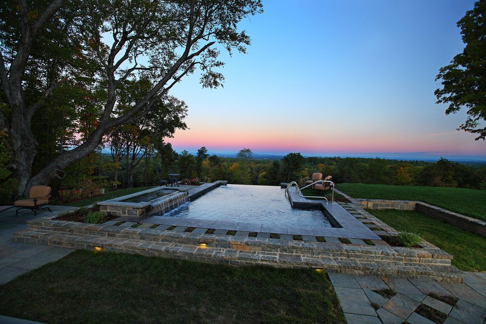 Concord Pools for a Contemporary Pool with a Pool and Vinyl Lined Negative Edge by Concord Pools & Spas