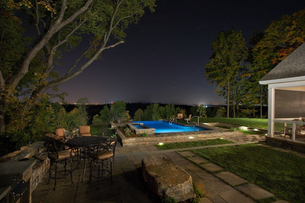 Concord Pools for a Contemporary Pool with a Swimming and Vinyl Lined Negative Edge by Concord Pools & Spas