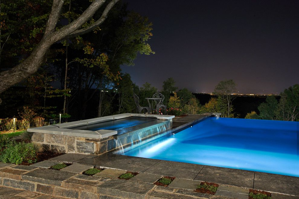 Concord Pools for a Contemporary Pool with a Vinyl Lined and Vinyl Lined Negative Edge by Concord Pools & Spas