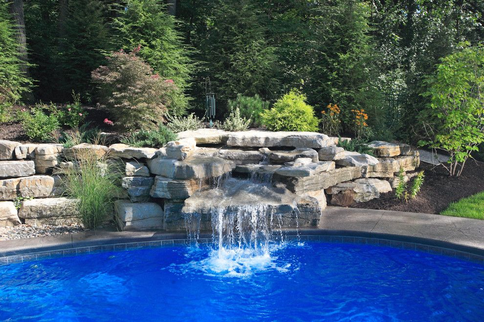 Concord Pools for a Modern Pool with a Beautiful Pools and Waterfalls & Features by Concord Pools & Spas