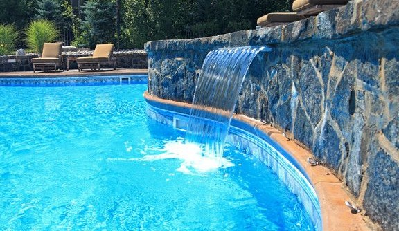 Concord Pools for a  Pool with a Pools with Waterfall and Waterfalls & Features by Concord Pools & Spas