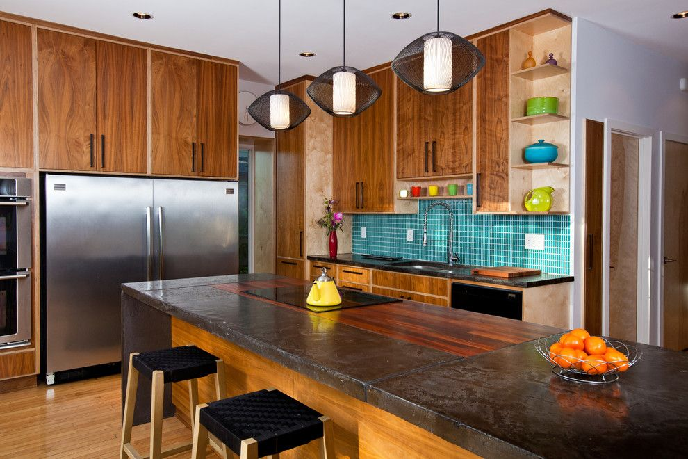 Concrete Countertop Solutions for a Contemporary Kitchen with a Custom and Dwelling 3918 by Studiobuild