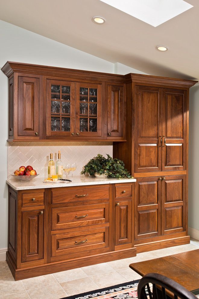 Concrete Countertop Solutions for a Traditional Spaces with a China Cabinet and Loudonville Ny Kitchen Remodel by Bellamy Construction