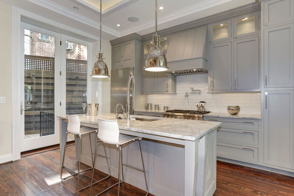 Conestoga Cabinets for a Traditional Kitchen with a Brushed Nickel Hardware and Kitchen Design Ideas by Capital Area Remodeling, Llc