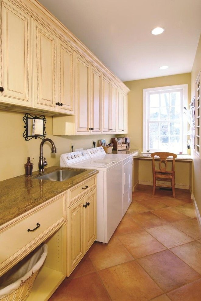 Conestoga Cabinets for a Traditional Laundry Room with a Wood Cabinets and Cubbage Laundry Room by Cameo Kitchens, Inc.