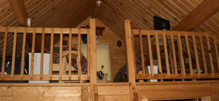 Conestoga Log Cabins for a Rustic Bedroom with a Loft and Outdoorsman 424 SQF by Conestoga Log Cabins
