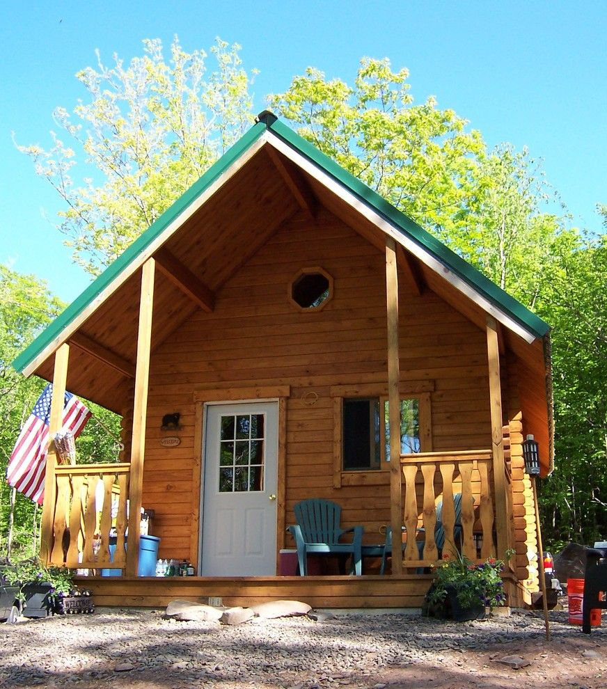 Conestoga Log Cabins for a Rustic Exterior with a Cabin and Outdoorsman 424 Sqf by Conestoga Log Cabins